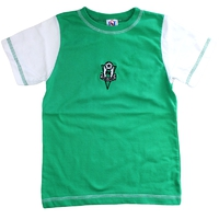 Children's T-shirt - green-white