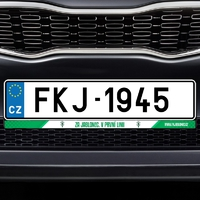 Plastic backplate under the vehicle registration plate