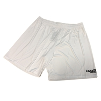Match shorts, white color