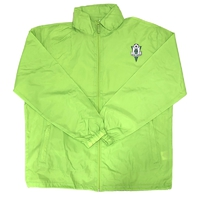 Men's green windbreaker